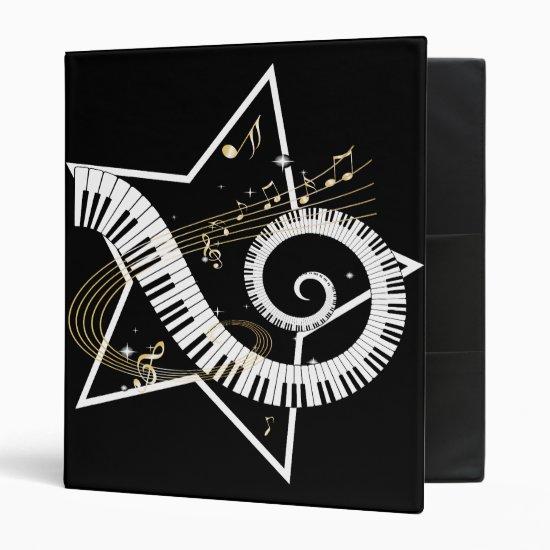 Musical Star golden notes Binder