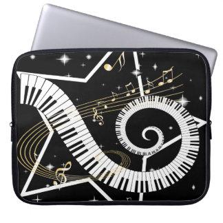 Musical Star Golden Notes Computer Sleeve