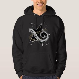 Musical Star Golden Notes Hooded Sweatshirt