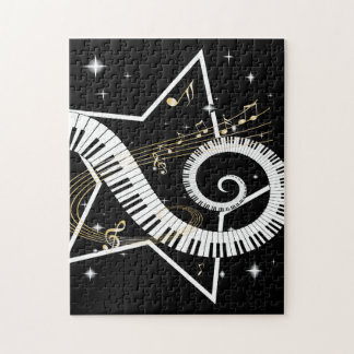Musical Star golden notes Jigsaw Puzzle