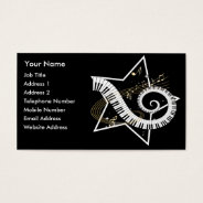 Musical Star Golden Notes Music Business Card at Zazzle