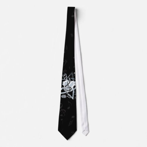 Musical Star Notes Designer Pattern Tie