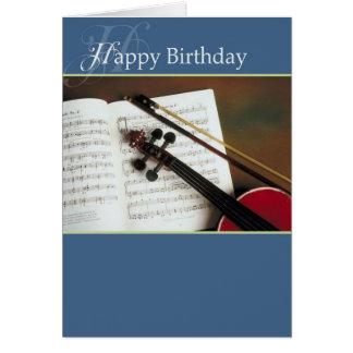 Musical Strings Happy Birthday Card