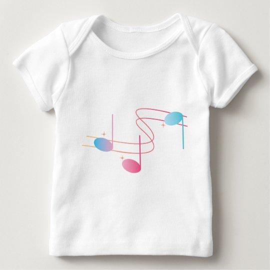 Musical Swirl Baby T-Shirt