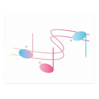 Musical Swirl Postcard