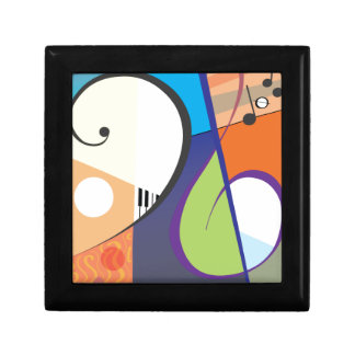 Musical Symbol Design Jewelry Box