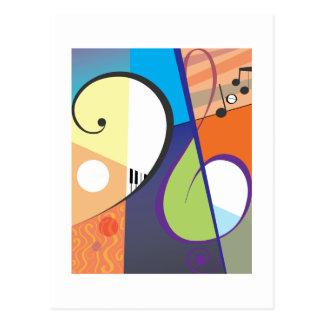 Musical Symbol Design Postcard