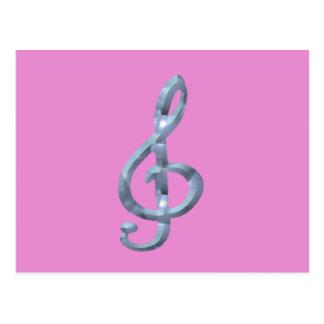 Musical Symbol Gcelf Postcard