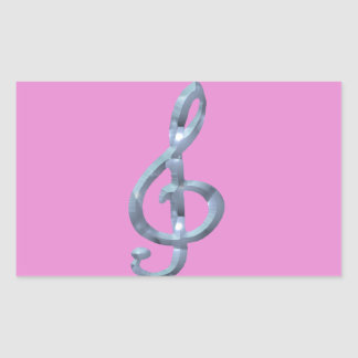 Musical Symbol Gcelf Rectangular Sticker