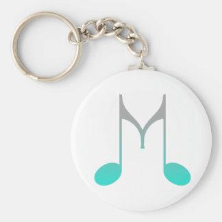 """Musical Symbol """"M"""" Basic Round Button Keychain"""