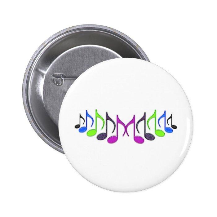 "Musical Symbol ""M"" Button"