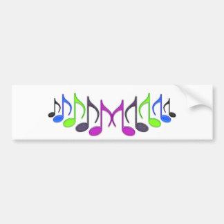 """Musical Symbol """"M"""" Car Bumper Sticker"""