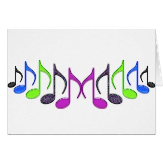 "Musical Symbol ""M"" Card"