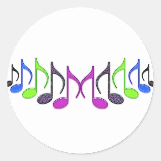 "Musical Symbol ""M"" Classic Round Sticker"