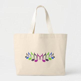 """Musical Symbol """"M"""" Large Tote Bag"""