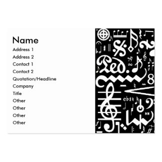Musical Symbols Business Card