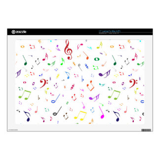 """Musical Symbols in Rainbow Colors 17"""" Laptop Decal"""
