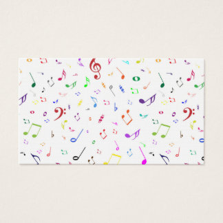 Musical Symbols in Rainbow Colors Business Card