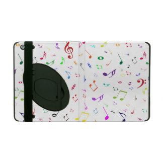 Musical Symbols in Rainbow Colors iPad Case