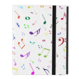 Musical Symbols in Rainbow Colors iPad Cases