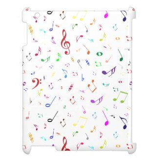 Musical Symbols in Rainbow Colors iPad Cover