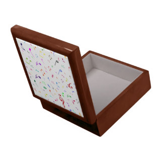 Musical Symbols in Rainbow Colors Jewelry Box
