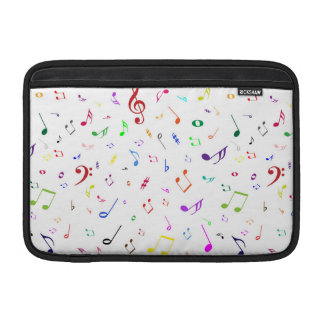 Musical Symbols in Rainbow Colors MacBook Air Sleeve