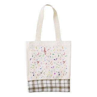 Musical Symbols in Rainbow Colors Zazzle HEART Tote Bag