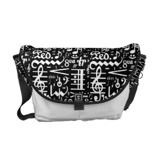 Musical Symbols Rickshaw Messenger Bag