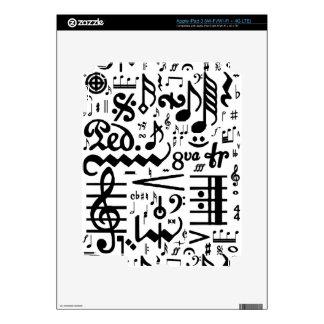 Musical Symbols Zazzle Skin iPad 3 Skin