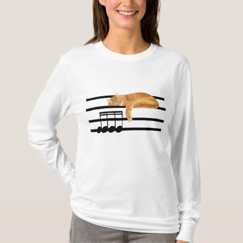 Musical tabby kitty cat T_Shirt
