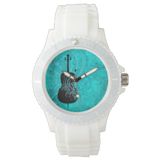 Musical Teal Cello Watch