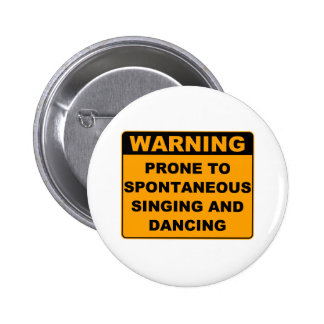 Musical Theater Pinback Button