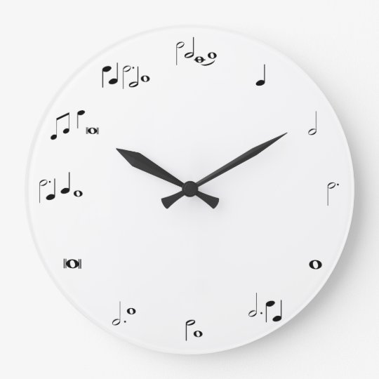 Musical timing clock - black and white