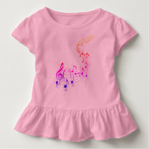Musical Toddler Ruffle Tee