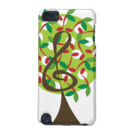 Musical Treble Cherry Notes Tree Whimsical Nature