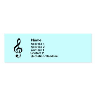 Musical Treble Clef  Business Card