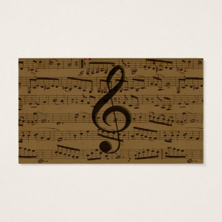 Musical Treble Clef sheet music Business Card