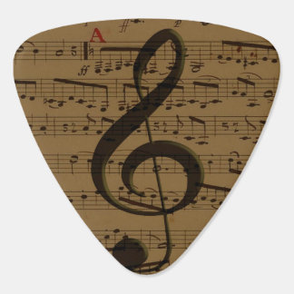 Musical Treble Clef sheet music Guitar Pick