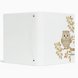 Musical Tree Owl Binder