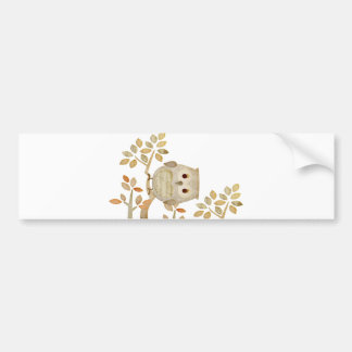 Musical Tree Owl Bumper Sticker