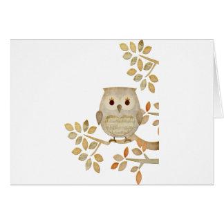 Musical Tree Owl Card