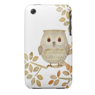Musical Tree Owl Case iPhone 3 Case