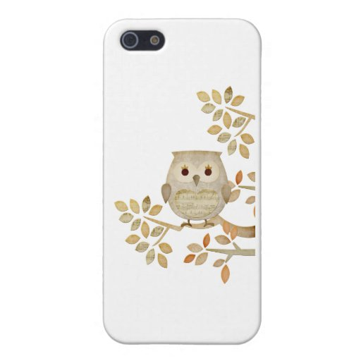Musical Tree Owl Case For iPhone 5
