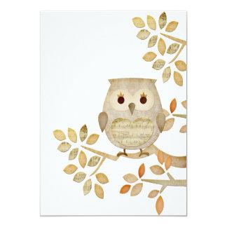 Musical Tree Owl Invitation
