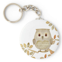Musical Tree Owl Keychain