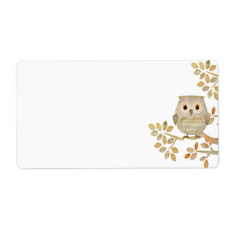 Musical Tree Owl Label Shipping Label