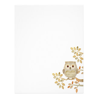 Musical Tree Owl Letterhead