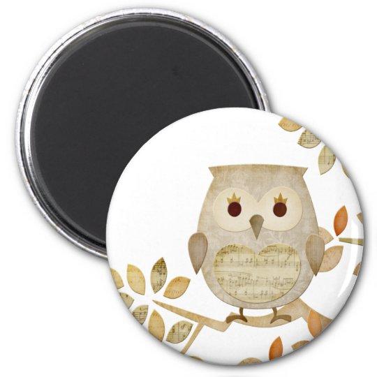 Musical Tree Owl Magnet