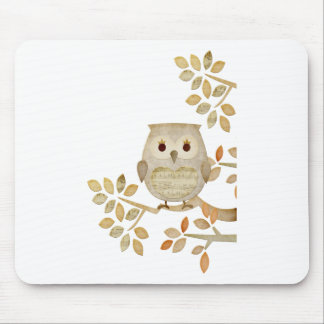 Musical Tree Owl Mouse Pad
